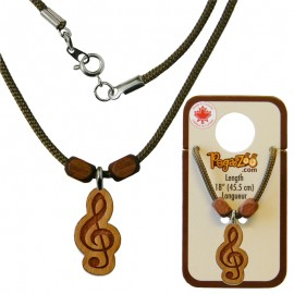 NECKLACE, TREBLE CLEF PENDANT