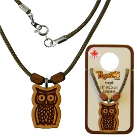 NECKLACE, OWL PENDANT