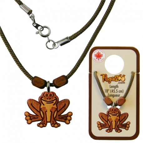 NECKLACE, FROG PENDANT