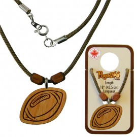 NECKLACE, FOOTBALL PENDANT