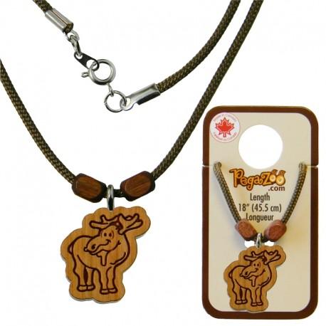 Necklace moose pendant creations pierre charbonneau inc necklace moose pendant aloadofball Images