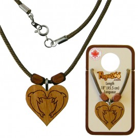 NECKLACE, DOLPHIN IN LOVE PENDANT