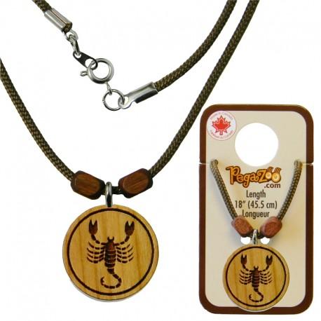 Necklace scorpio pendant crations pierre charbonneau inc necklace scorpio pendant mozeypictures Image collections