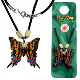 NECKLACE - COLORED BUTTERFLY