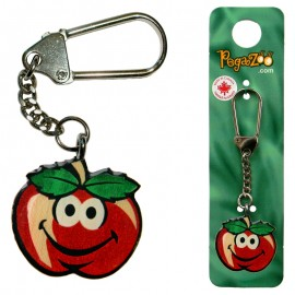 KEY CHAIN - SMILEY APPLE