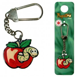 KEY CHAIN - WORM IN APPLE