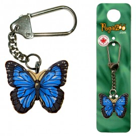 KEY CHAIN - BLUE BUTTERFLY